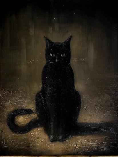 Black Cat Watching You