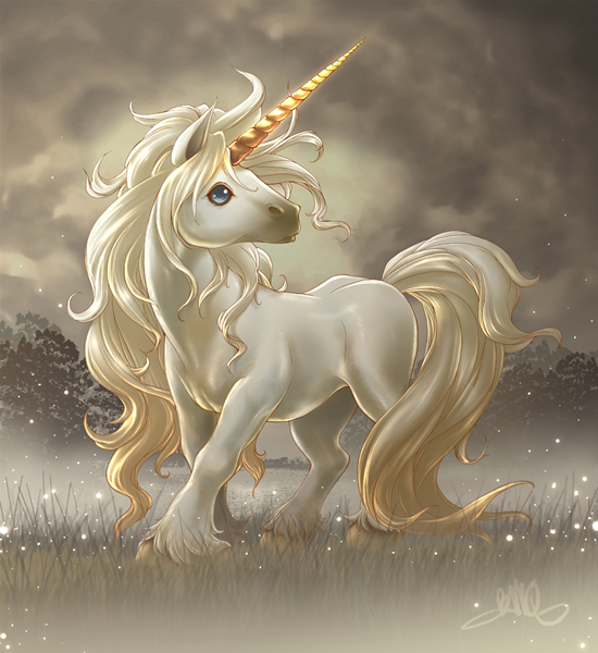 BanQ_Golden_Horn_Unicorn_by_BanQ