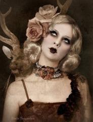 Lady of Versailles Neck Corsage Lace Satin by louiseblack