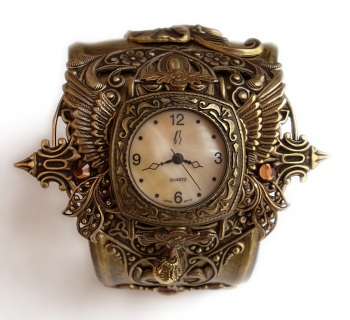 steampunk_watch_cuff___floral3_by_aranwen