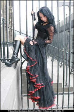 Gothic Lady With Boots