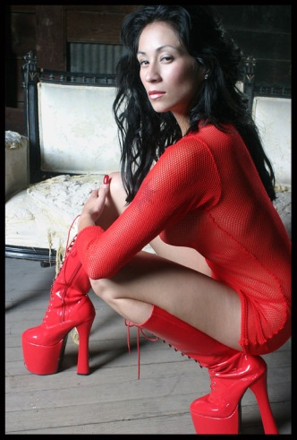 Shiny Red Boots