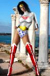 Wonder Woman In Red Boots