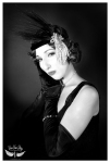 Black and White Flapper