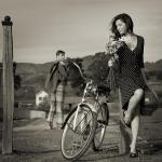 Lady and the bycicle