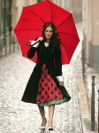 Red Umbrella And Dress