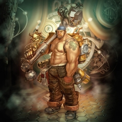 Steampunk Character - Mecanic