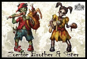Zombie Brother And Sister