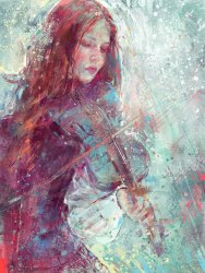 Digital Painting - Winter Heart