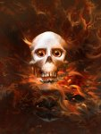Flaming Skull from Hell