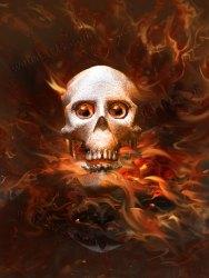 Flaming Skull from Hell