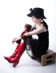 Red Boots - Red Scarf