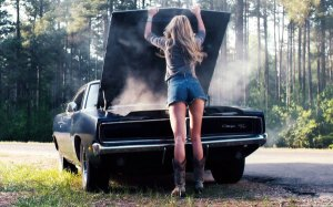 Girl And Charger