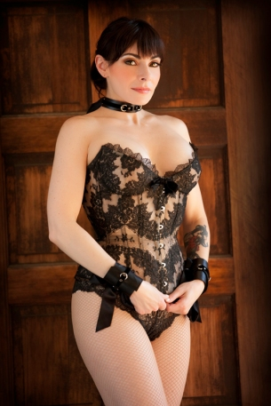 Anyssa In Lace, Collar, Cuffs By PerryGallagher