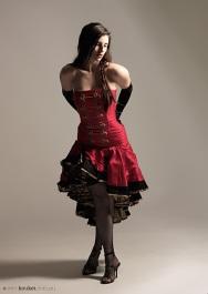 Escha Red Military Dress By KatTraill