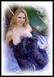 Purple Pinup By Ladylionink