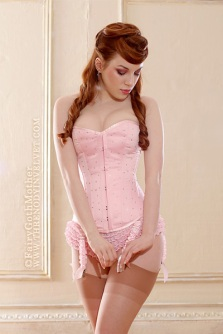 Vintage Pink Corset By Ladymorgana