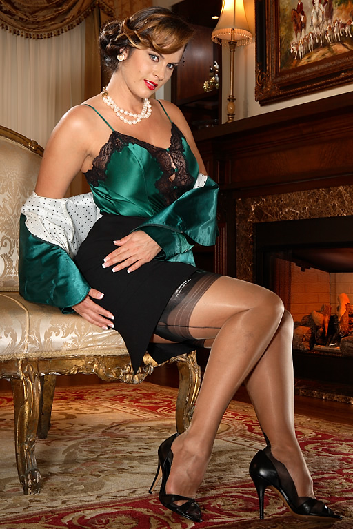 Mature black lace stockings galleries
