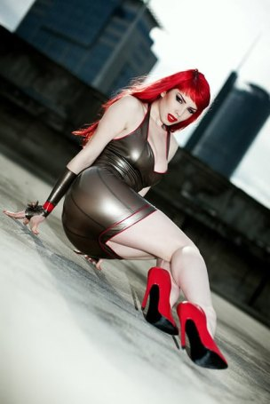 Latex Cocktail Dress And Gloves By Bommi