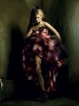 Lace Tights + Print Dress = Love
