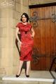 Erika Dress In Meredith Red Rose Print