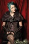 Gothic Lolita Faux Fur Ruffles Capelette