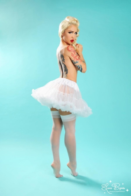 Sheer Stockings in White