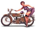 Motorcycle Pin-Up II
