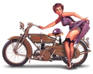 Motorcycle Pin-Up II