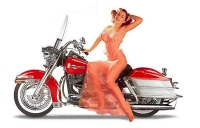 Motorcycle Pin-Up IX