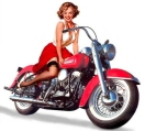 Motorcycle Pin-Up XII