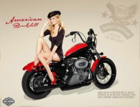 Motorcycle Pin-Up XXV