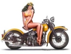 Motorcycle Pin-Up XXXI