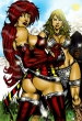 Red Monica And Red Sonja