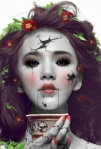 Broken Doll Halloween Face