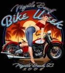 Motorcycle Pin-Up VIII
