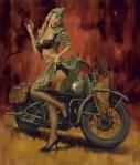 Motorcycle Pin-Up XIV