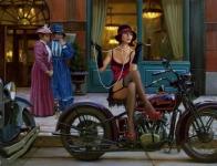 Motorcycle Pin-Up XV