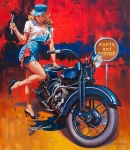 Motorcycle Pin-Up XX