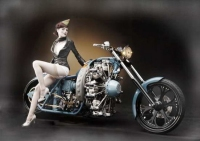 Motorcycle Pin-Up XXIX