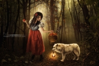 Red Riding Hood And A Not Bad Wolf