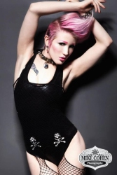 Pink Hair - Black Latex
