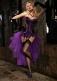 Purple Corset With Black Stockings