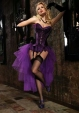 Purple Corset With Black Stockings