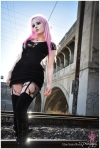 Goth Girl - Pink In Black