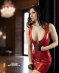 Sister Sinister In Red Latex