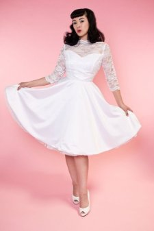 Collette Lace Bridal Dress in White