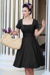 Debbie Swing Dress in Black