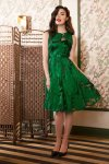 Maggie Goddess Swing Dress in Emerald Green