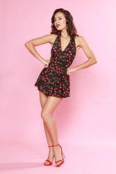 Marilyn Cherry Swimdress in Black